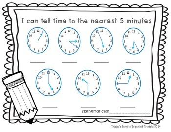 Telling Time to the Nearest 5 Minutes