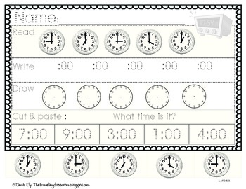 Telling Time Worksheets & Posters