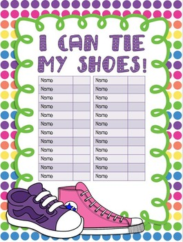 I Can Tie My Shoes Editable Sticker Poster
