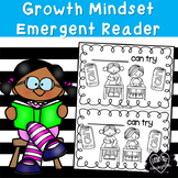 I Can Try:  Growth Mindset Emergent Reader in Black and White