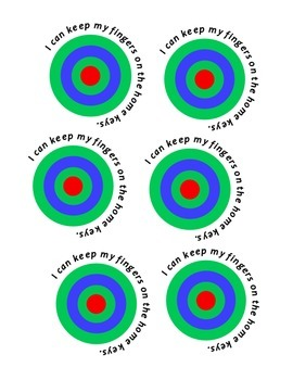 """I Can"" Typing Targets"