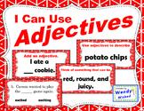 I Can Use Adjectives:  4 ELA Grammar Activities