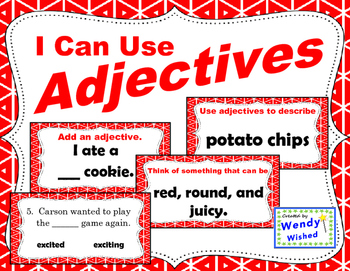 I Can Use Adjectives:  4 Activities