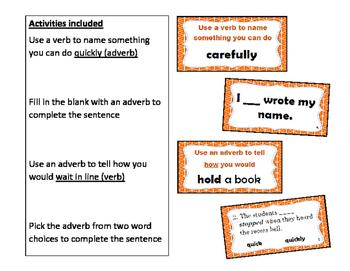 I Can Use Adverbs:  4 ELA Grammar Activities