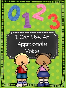 I Can Use An Appropriate Voice - Student Skills Lesson and Activities
