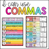 Commas: Worksheets, Anchor Charts, Assessment & Centers