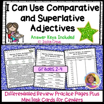 Comparative superlative adjectives teaching resources teachers pay i can use comparative and superlative adjectives differentiated practice fandeluxe Images