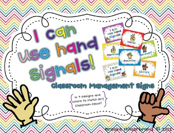 I Can Use Hand Signals! {Editable!} Classroom Signs