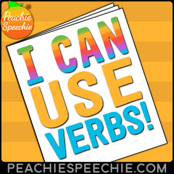 I Can Use Verbs No-Prep Workbook