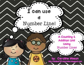 I Can Use a Number Line:  A number sense, addition, & subt