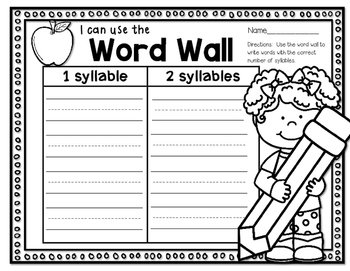 I Can Use the Word Wall!--Activities for your K-2 Classroom