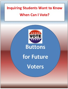 I Can Vote 2020,2024,... Election Buttons for Students Presidential 2016 Voting