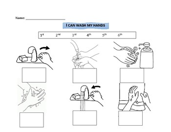 I Can Wash My Hands Sequencing - EASY