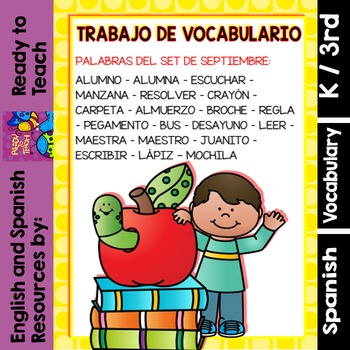 I Can - Word Work in Spanish - September Set