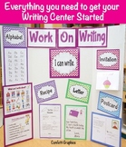 Writing Center Starter Kit Set Printables I Can Work On Writing Chevron K 1 2 3