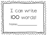 I Can Write 100 Words 100th Day of School Activity