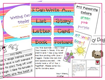 I Can Write A... {Center Display Board}