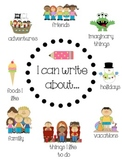 """""""I Can Write About..."""" Anchor Chart"""
