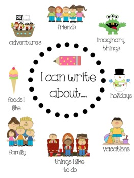 """I Can Write About..."" Anchor Chart"