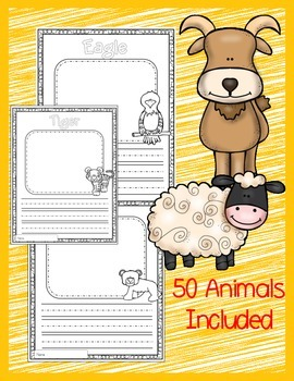 I Can Write About Animals! Animal Writing Journal Including 50+ Animals