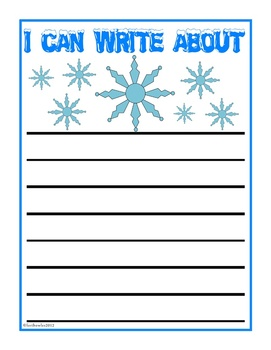 I Can Write About Winter Journal Prompts