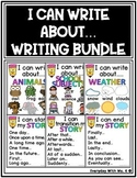 I Can Write About Topics Idea Writing Center Bundle