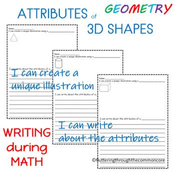 Shapes  Worksheets Attributes of 3D Shapes  Integrating Writing and Math