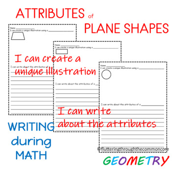 SHAPES  I Can Write About the Attributes of Plane Shapes