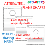 Shapes Worksheets   Plane Shapes Integrating Writing and Math