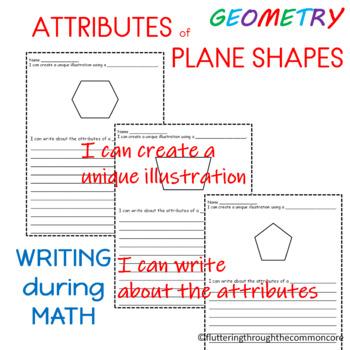 Shapes Worksheets   Plane Shapes Integrating Writing and Math