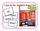 I Can Write... Bulletin Board Set FREEBIE