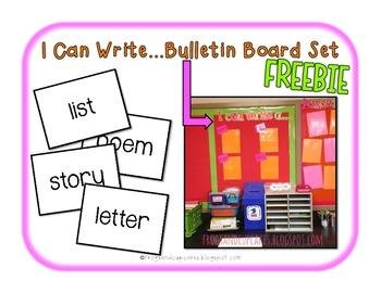 I Can Write... Bulletin Board Set FREEBIE