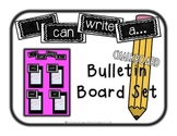 I Can Write... Bulletin Board Set {chalkboard}
