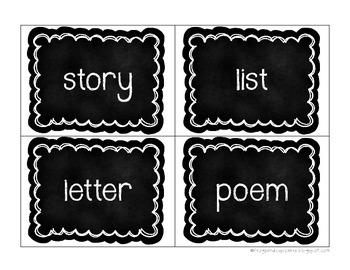 I Can Write... Bulletin Board Set {chalkboard}