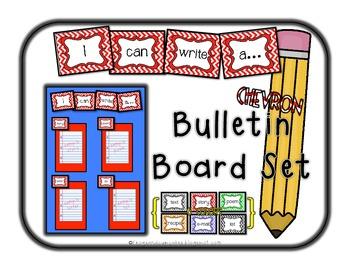 I Can Write... Bulletin Board Set {chevron}