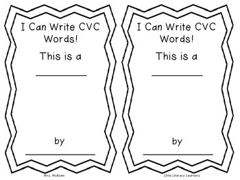 I Can Write CVC Words