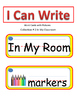 I Can Write Collection #2- In My Classroom (Picture Word Cards)