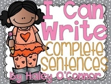 I Can Write Complete Sentences