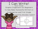 Graphic Organizers for Kindergarten and 1st Grade Writers