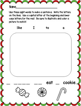 I Can Write Holiday Sight Word Sentences