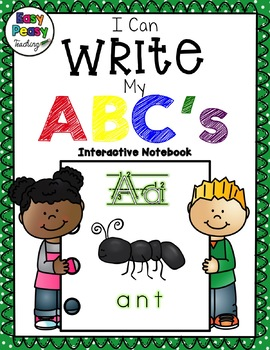 I Can Write My ABC's Interactive Notebook