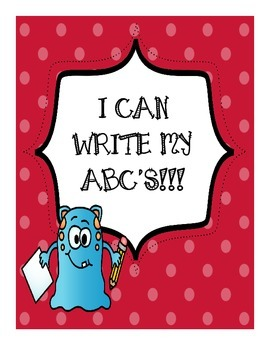 I Can Write My ABC's - blank sheets to write the alphabet