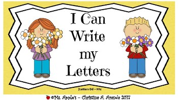 I Can Write My Letters (Dd-Hh)