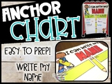 I Can Write My Name Anchor Chart   Back to School Anchor Chart   PreK-Kinder