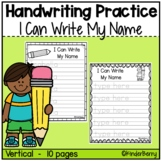 I Can Write My Name Handwriting Practice EDITABLE {Distance Learning}