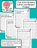I Can Write My Name, Letters and Numbers Freebie!