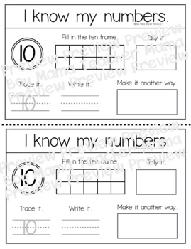 I Can Write My Numbers (0-10) 11 Day Activity/Work