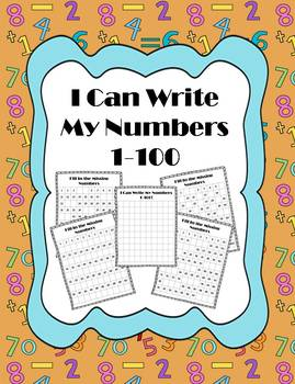 I Can Write My Numbers 1-100 Printables (CCSS Aligned)