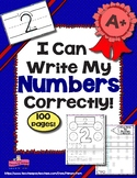 I Can Write My Numbers Correctly! ~ Kindergarten Number Writing Activities