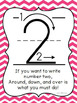 I Can Write My Numbers Poster in colors